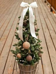 Mini Decorated Christmas Trees Outdoor Holiday Decorating Idea Mini Christmas Tree Hgtv