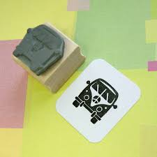 mini camper van mini camper van rubber stamp by skull and cross buns rubber stamps