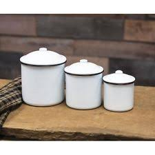 enamel kitchen canisters enamel kitchen canister sets ebay