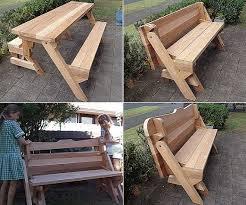 folding picnic table bench plans pdf one piece folding bench and picnic table plans downloadable pdf