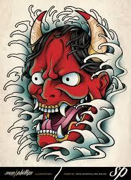 hannya mask samurai tattoo hannya mask tattoo by sam phillips nz on deviantart