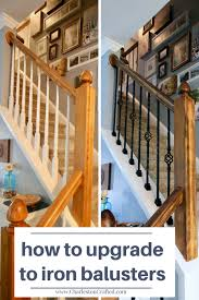 Banister And Spindles 100 Challenge How To Replace Wooden Balusters With Iron