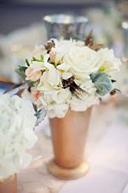 Mint Julep Vase Small Arrangements In Gold Julep Cups Will Adorn Ceremony Aisles