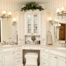 Bathroom Corner Vanity luxury large white master bathroom cabinets with double sinks