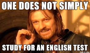 Test Meme - one does not simply study for an english test meme on imgur
