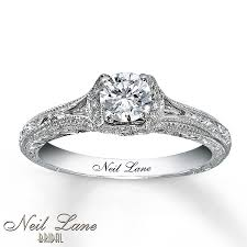 5 engagement ring neil bridal ring 5 8 ct tw diamonds 14k white gold