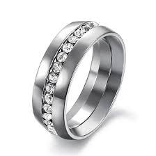 verlobungsring f r sie romantische goldene silber edelstahl ring männer gefüllt weiß