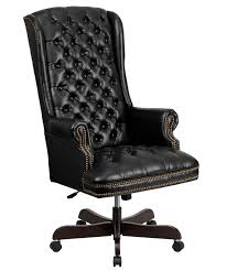 Desk Chair For Sale Traditional Leather Tufted High Back Desk Chair On Sale