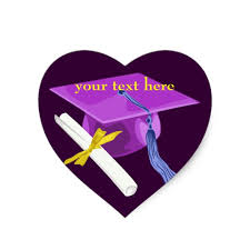 graduation cap stickers purple graduation cap heart stickers zazzle