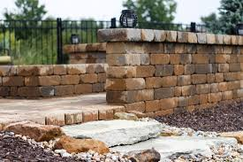 Paver Patio With Retaining Wall by Patios U0026 Retaining Walls Tuttle U0027s Nursery And Landscaping