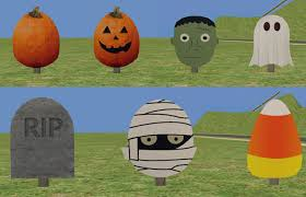 mod the sims halloween yard signs