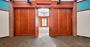 folding wood doors folding door partitions with wood panels