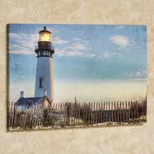 lighted canvas wall art touch of class seaside lighthouse led canvas light blue