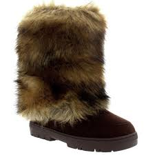 womens winter boots uk womens rabbit fur covered waterproof eskimo winter