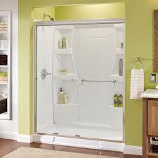 delta portman 60 in x 70 in semi frameless sliding shower door