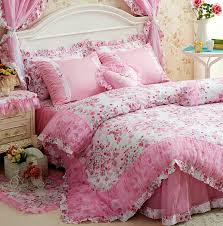 amazon com princess ruffle lace bedding cottage shabby chic duvet