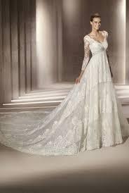 wedding dress ivory ivory lace v neck wedding dress with sleeves