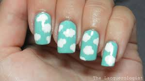 freehand cloud design nail art tutorial nail art clouds images