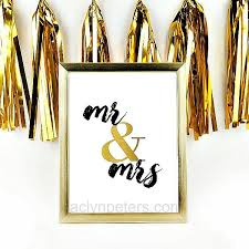 mr and mrs sign for wedding mr and mrs wedding sign in black and gold printable instant