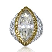 marquise diamond engagement rings platinum u0026 18k yellow gold 7 22 carat marquise cut pave set
