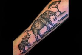cute mom and baby elephant tattoo by sara eve tattoonow