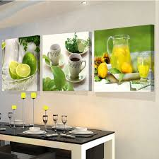 new 3 piece canvas art paintings for the kitchen fruit and cups