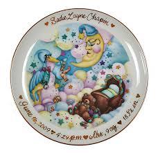 keepsake plate personalized baby birth keepsake plate simplyuniquebabygifts