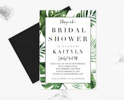 bridal shower invitation template tropical palm bridal shower invitation template instant