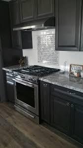 viscount white granite dark charcoal cabinets white subway tile