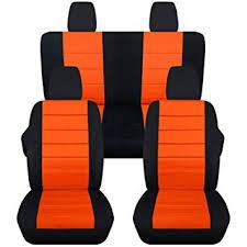 seat covers jeep wrangler amazon com 2011 2017 jeep wrangler jk seat covers black orange