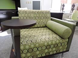 Patterned Armchair Green Chair And Table Combo Richmond Office Interiors