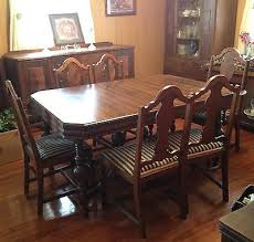 Dining Room Set With Buffet 1900 1950 Dining Sets Furniture Antiques U2022 398 Items Picclick