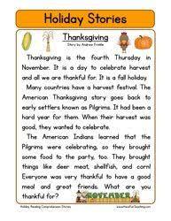 second grade reading comprehension worksheet stories