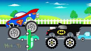 batman monster jam truck batman truck vs superman truck monster trucks for kids kids