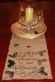 halloween tablecloth halloween burlap table runner teach love craft