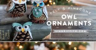 my owl barn diy felt pinecone owl ornaments