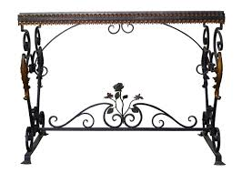 Iron Console Table Table Picturesque Italian Wrought Iron Console Table With St