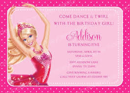barbie invitation template barbie birthday invitation card free
