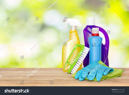 table top house cleaning products spray stock photo 519131233