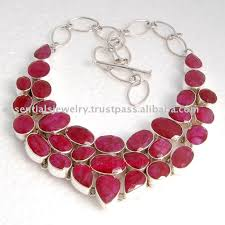 ebay necklace silver images Ruby silver necklace jewelry fashion silver gemstone ebay designer jpg