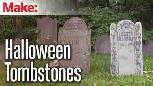 diy foam tombstones youtube