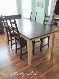 Farm Table Pictures by To A Pretty Life Diy Farmhouse Table Ikea Hack