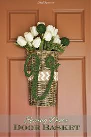 spring decor door basket frugelegance