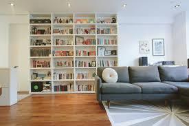 sliding bookcase houzz
