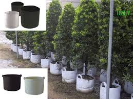 pp or pet nonwoven geotextile grow bag view garden planting bag