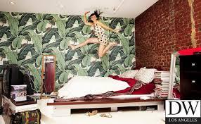 Designer Bedroom Wallpaper Beverly Martinique Banana Leaf Wallpaper Style