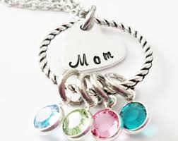 mothers day necklaces personalized mothers day necklace etsy