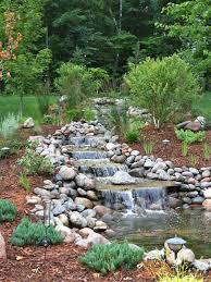 backyard best ideas about waterfall design diy