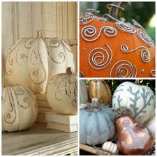Small Pumpkins Decorating Ideas How To Make A Pretty Fretwork Pumpkin Easy Crafts And Homemade