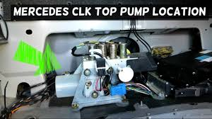 mercedes w208 clk convertible top hydraulic pump location youtube